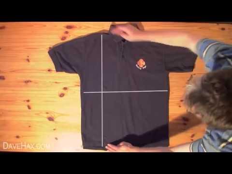 læg tshirt sammen på 2 sek